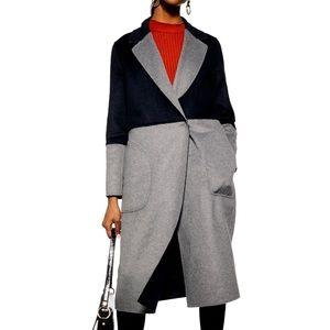 NWT Topshop Reversible Wool Blended Coat